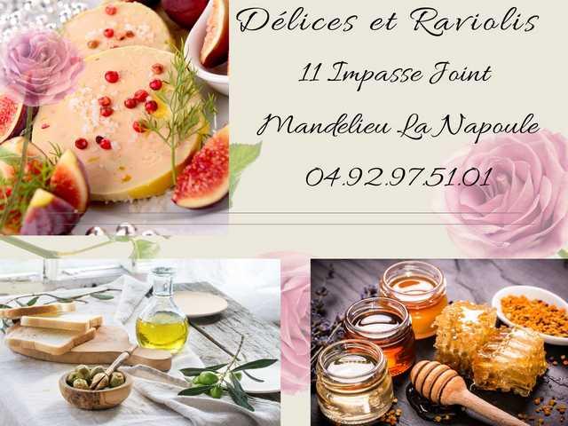 affiche delices et raviolis Mandelieu-La Napoule